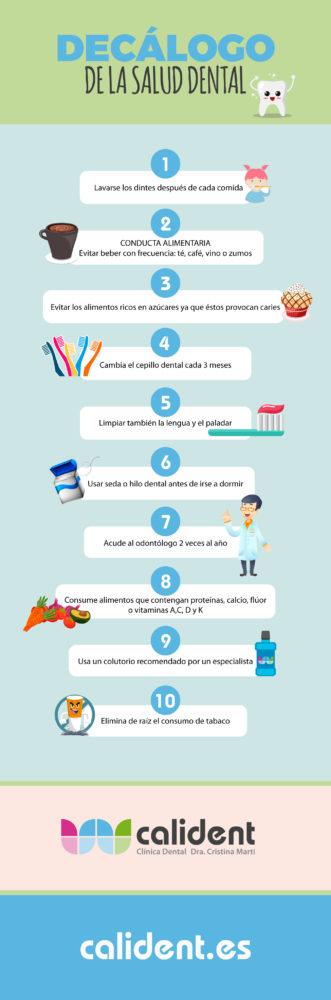 Decálogo de la salud dental